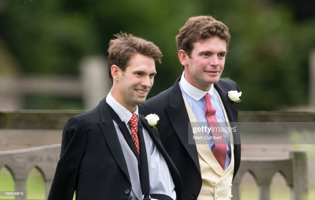 <a gi-track='captionPersonalityLinkClicked' href=/galleries/search?phrase=Harry+Meade&family=editorial&specificpeople=2264034 ng-click='$event.stopPropagation()'>Harry Meade</a> and James Meade attend the wedding of James Meade and Lady Laura Marsham at The Parish Church of St. Nicholas in Gayton on September 14, 2013 in King's Lynn, England.