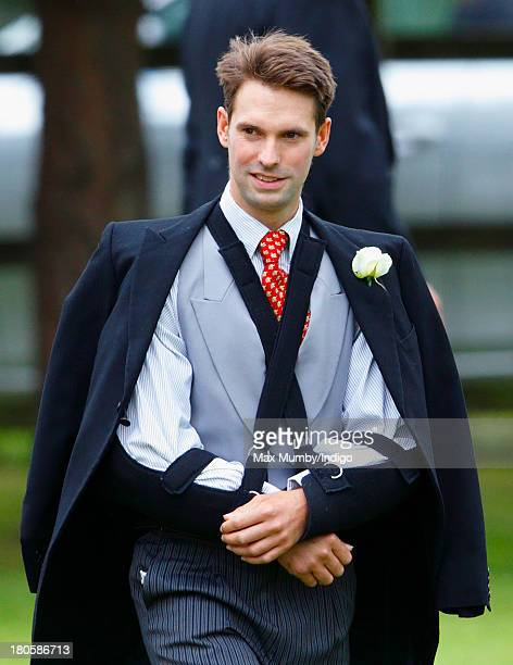 Harry Meade attends the wedding of his brother James Meade and Lady Laura Marsham at the Parish Church of St Nicholas in Gayton on September 14 2013...