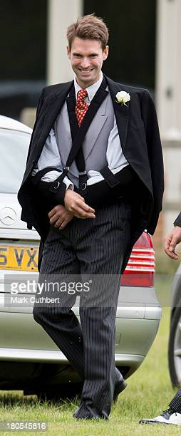 Harry Meade attends the wedding of James Meade and Lady Laura Marsham at The Parish Church of St Nicholas in Gayton on September 14 2013 in King's...
