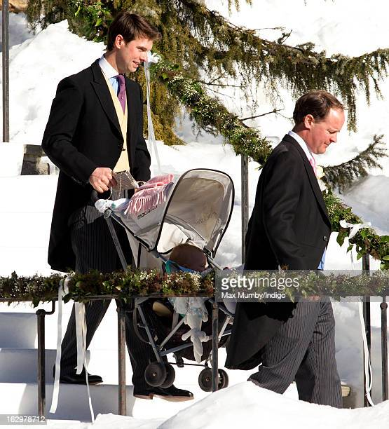 Harry Meade attends the wedding of Laura Bechtolsheimer and Mark Tomlinson at the Protestant Church on March 2 2013 in Arosa Switzerland