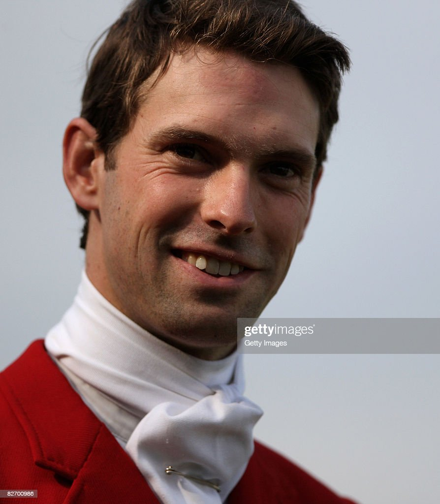 Harry Meade of Great Britain looks on during the show sumping of the Burghley Horse Trial in the HSBC FEI Classics Series on September 7 2008 in...