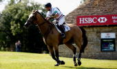 Harry Meade of Great Britain rides Dunauger during the Cross Country at The Land Rover Burghley Horse Trials in the HSBC FEI Classics Series on...
