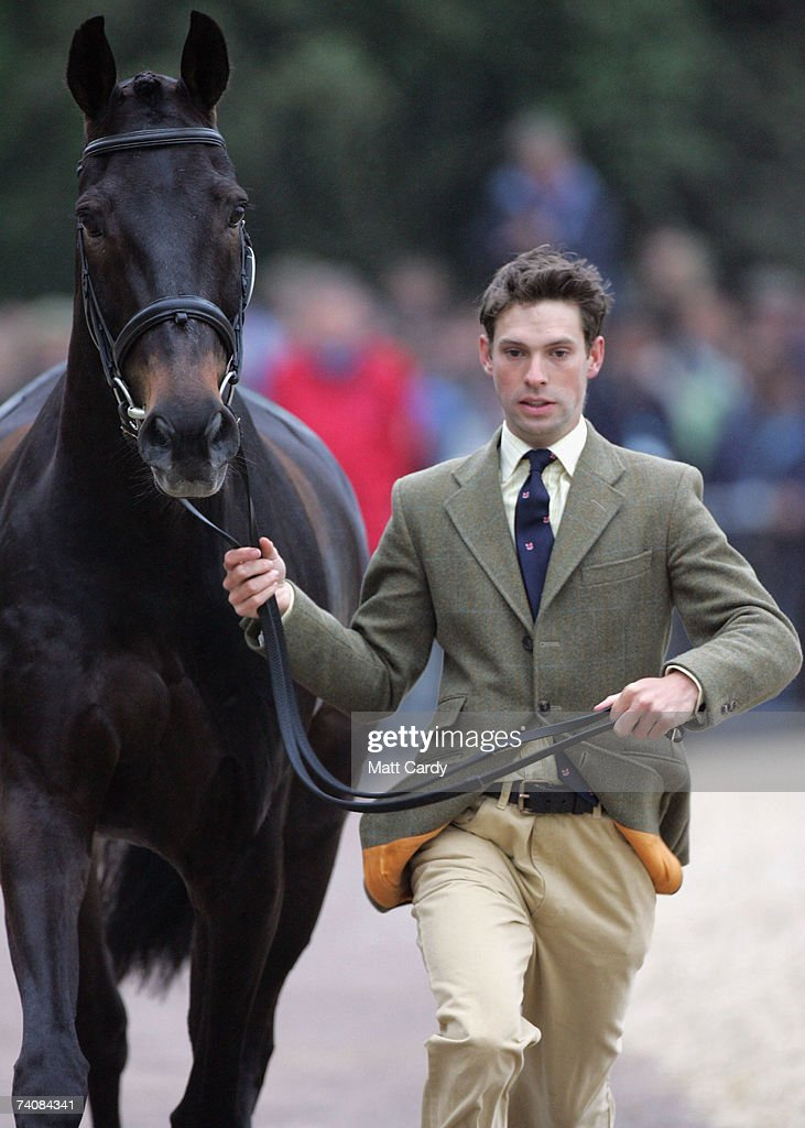 Harry Meade trots along with Midnight Dazzler on the final day of the Mitsubishi Motors Badminton Horse Trials on May 6 2007 in Badminton United...