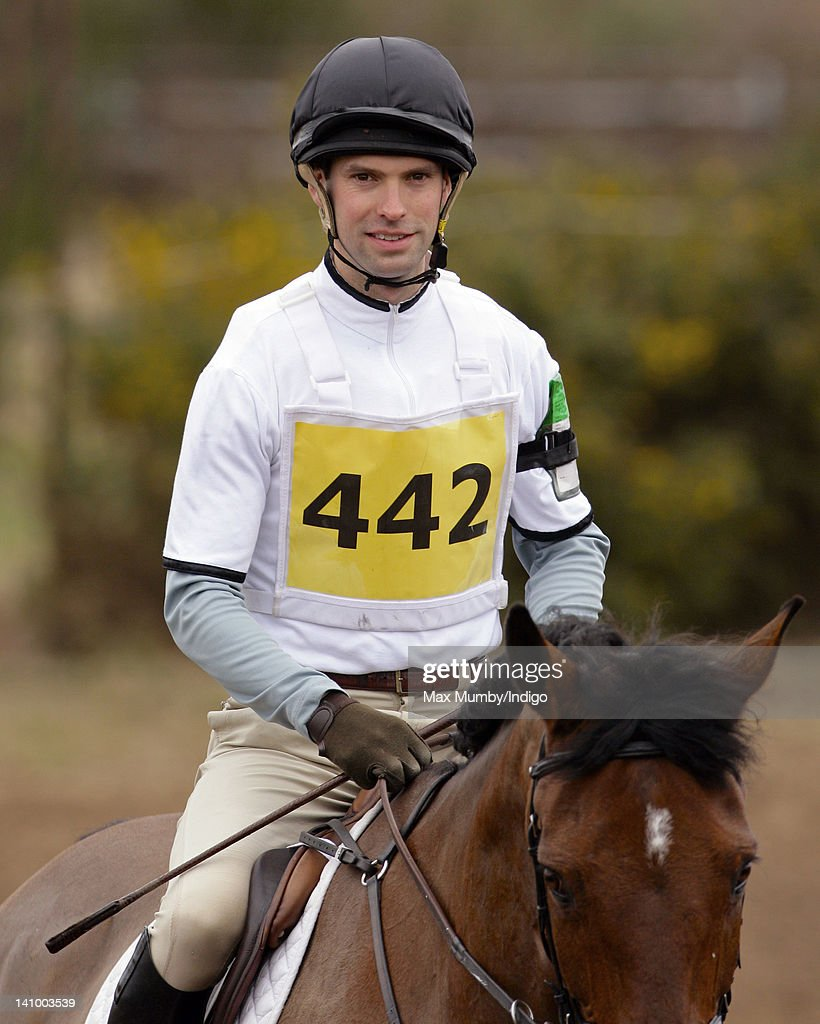 <a gi-track='captionPersonalityLinkClicked' href=/galleries/search?phrase=Harry+Meade&family=editorial&specificpeople=2264034 ng-click='$event.stopPropagation()'>Harry Meade</a> warms up on his horse 'Easter Fable' prior to competing the cross country phase of the Tweseldown Horse Trials at Tweseldown Racecourse on March 9, 2012 in Fleet, England.