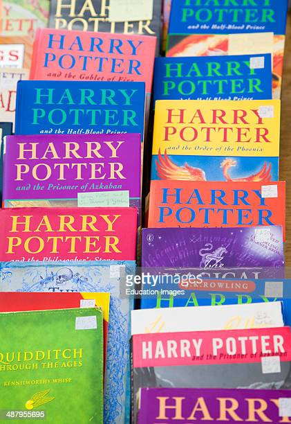 Harry Potter books on display at a car boot sale UK