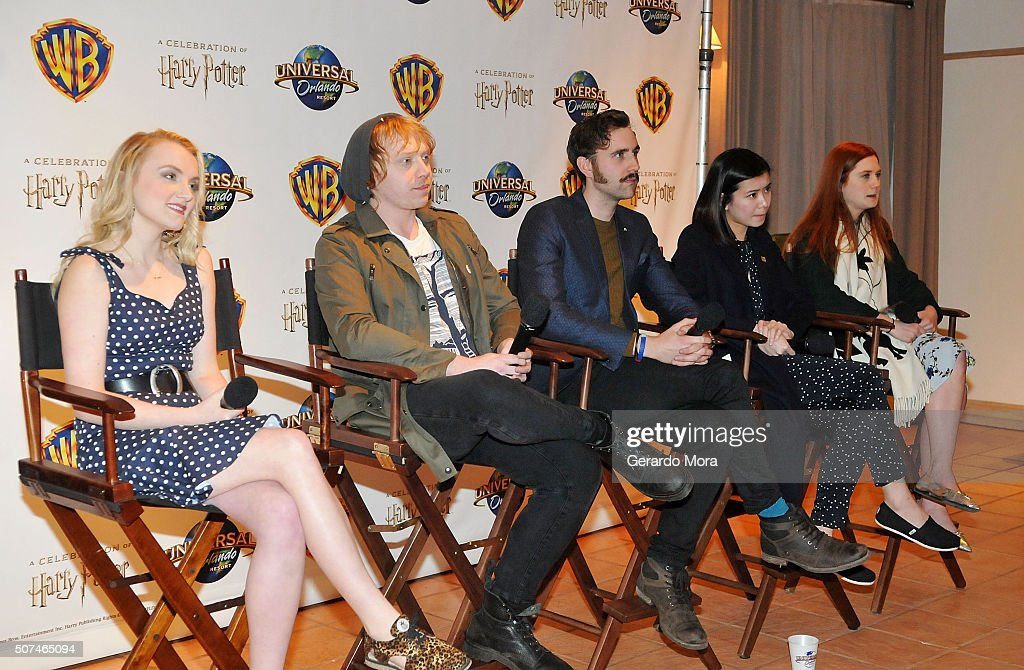 'Harry Potter' cast members (L-R) Evanna Lynch, Rupert Grint, Matthew Lewis, Katie Leung and Bonnie Wright attend the 3rd Annual Celebration Of Harry Potter at Universal Orlando on January 29, 2016 in Orlando, Florida.
