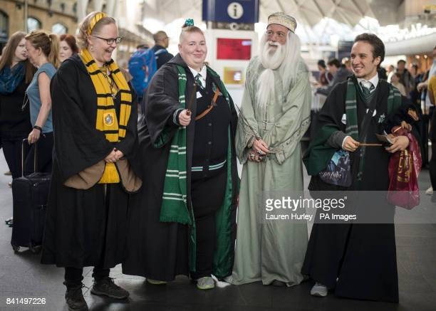Harry Potter fans at King's Cross Station London Today is the day that Albus Severus Potter boarded the Hogwarts Express in the epilogue of Harry...