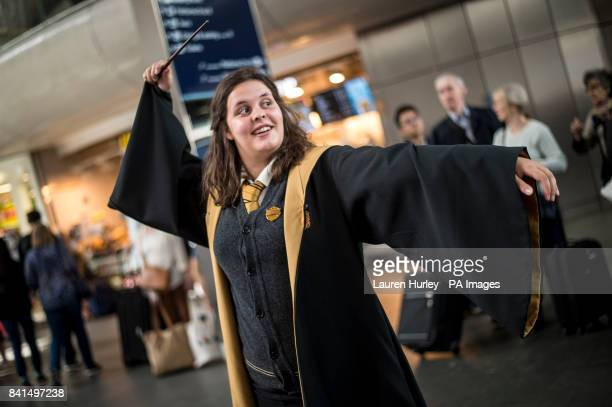 A Harry Potter fans at King's Cross Station London Today is the day that Albus Severus Potter boarded the Hogwarts Express in the epilogue of Harry...
