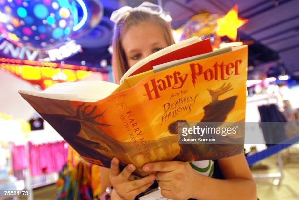 Harry Potter Fans at the Toys 'R' Us Times Square midnight launch of 'Harry Potter And The Deathly Hallows' on July 21 2007 in New York City