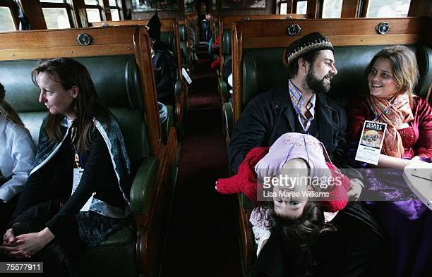 Harry Potter fans take a steam train from Sydney Central Station to a secret location for the much anticipated unveiling of the final novel by author...