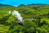This train and Glenfinnan viaduct which is real in Scotland was been on the movie Harry Potter