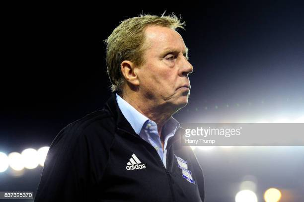 Harry Redknapp Manager of Birmingham City looks on after the Carabao Cup Second Round match between Birmingham City and AFC Bournemouth at St Andrews...