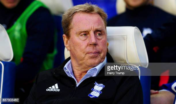 Harry Redknapp Manager of Birmingham City looks on prior to the Carabao Cup Second Round match between Birmingham City and AFC Bournemouth at St...
