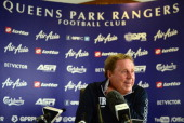 Harry Redknapp Manager of Queens Park Rangers talks to the media during a Queens Park Rangers press conference on May 22 2014 in Harlington England