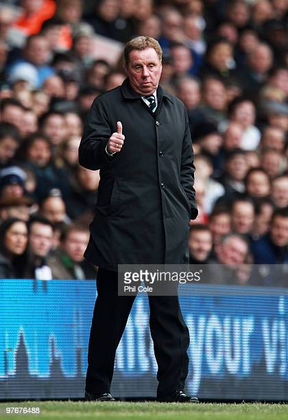 Harry Redknapp Manager of Tottenham Hotspur gives the thumbs up during the Barclays Premier League match between Tottenham Hotspur and Blackburn...
