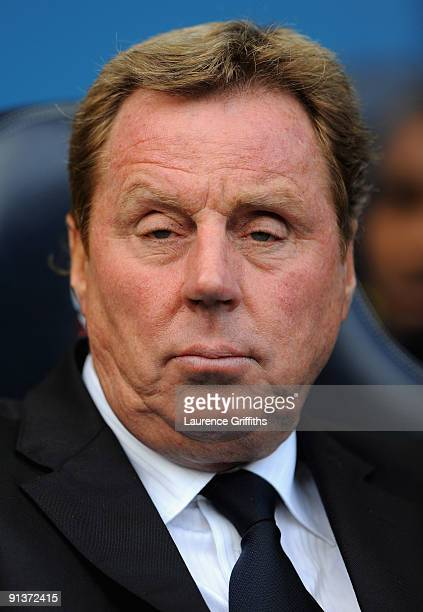 Harry Redknapp of Spurs looks on during the Barclays Premier League match between Bolton Wanderers and Tottenham Hotspur at Reebok Stadium on October...