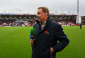 Harry Redknapp presenting for BT Sport television before the Barclays Premier League match between AFC Bournemouth and Newcastle United at Vitality...