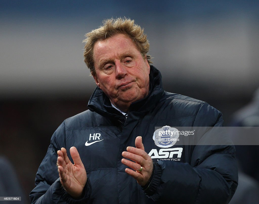 Harry Redknapp the QPR manager applauds after the Barclays Premier League match between Stoke City and Queens Park Rangers at Britannia Stadium on January 31, 2015 in Stoke on Trent, England.