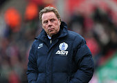 Harry Redknapp the QPR manager looks on during the Barclays Premier League match between Stoke City and Queens Park Rangers at Britannia Stadium on...