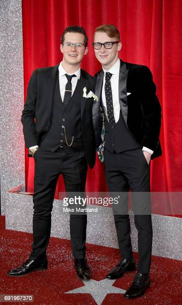 Harry Reid and Jamie Borthwick attend The British Soap Awards at The Lowry Theatre on June 3 2017 in Manchester England The British Soap Awards will...