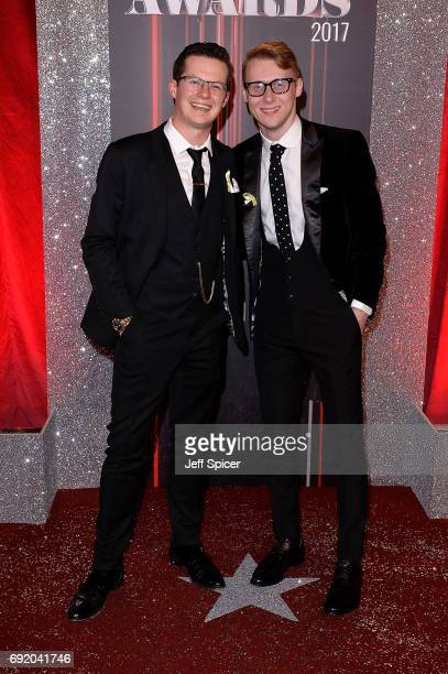 Harry Reid and Jamie Borthwick attend The British Soap Awards at The Lowry Theatre on June 3 2017 in Manchester England The Soap Awards will be aired...