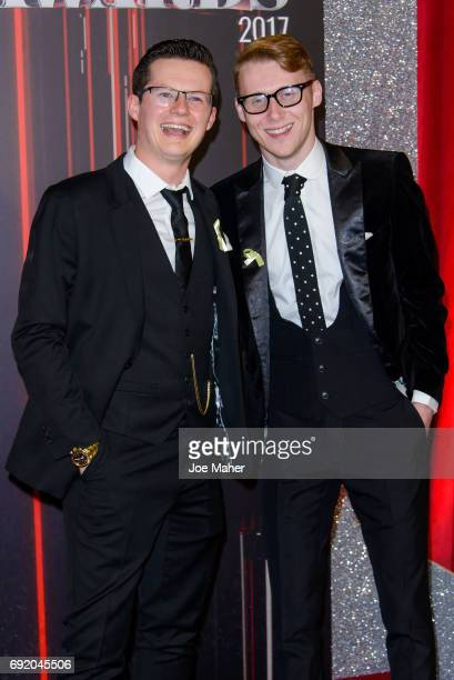 Harry Reid and Jamie Borthwick attend the British Soap Awards at The Lowry Theatre on June 3 2017 in Manchester England