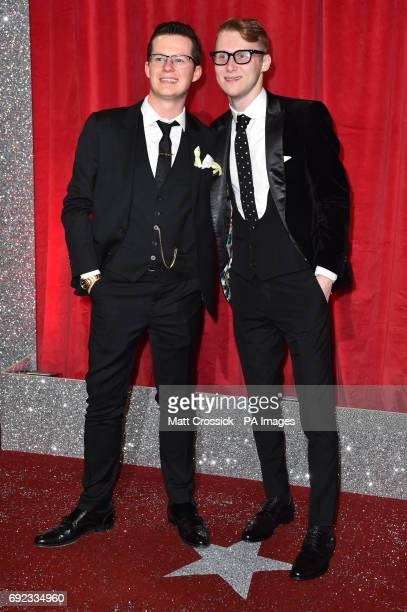 Harry Reid and Jamie Borthwick attending the British Soap Awards 2017 at The Lowry Salford Manchester PRESS ASSOCIATION Photo Picture date Saturday 3...
