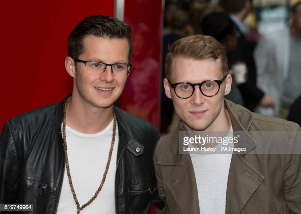Harry Reid and Jamie Borthwick attending the opening night of Sadleracircs Wells summer tango spectacular Tanguera in London
