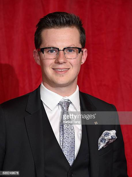Harry Reid arrives for the British Soap Awards 2016 at the Hackney Town Hall Assembly Rooms on May 28 2016 in London England