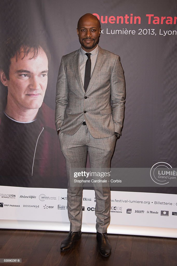 Harry Roselmack attends the Tribute to Quentin Tarantino, during the 5th Lumiere Film Festival, in Lyon.