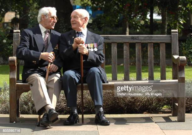 Harry Rosney and Sidney Graham at the Imperial War Museum in London which today hosted a reunion for German and Austrian refugees of Nazism who all...