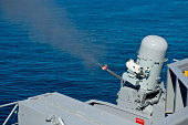 USS Harry S. Truman tests the Close-In Weapons System.