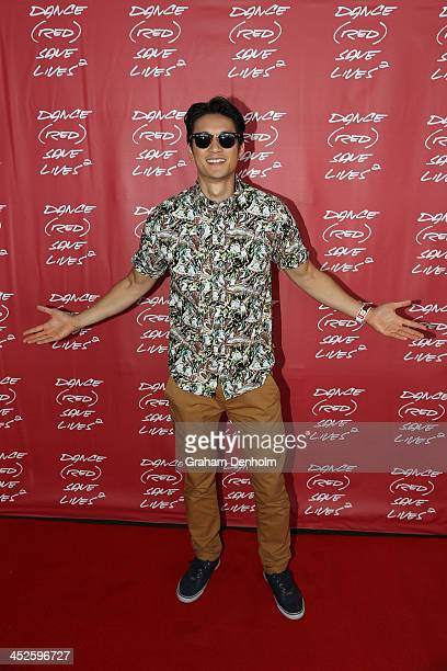 Harry Shum Jr poses during DANCE SAVE LIVES at Stereosonic Sydney on November 30 2013 in Sydney Australia Photo by Graham Denholm/Getty Images for...