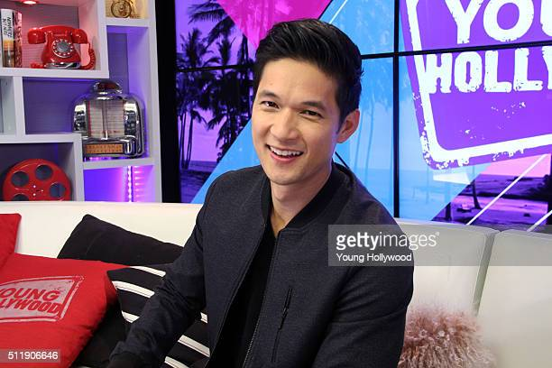Harry Shum Jr visits the Young Hollywood Studio on February 23 2016 in Los Angeles California