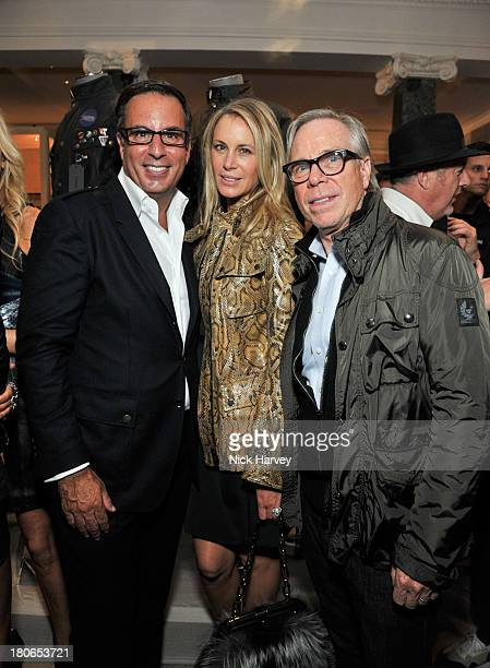 Harry Slatkin Dee Hilfiger and Tommy Hilfiger attend the opening of Belstaff House on September 15 2013 in London England