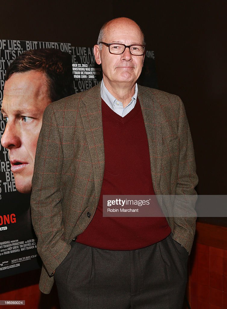 <a gi-track='captionPersonalityLinkClicked' href=/galleries/search?phrase=Harry+Smith+-+Journalist&family=editorial&specificpeople=214180 ng-click='$event.stopPropagation()'>Harry Smith</a> attends 'The Armstrong Lie' New York premiere at Tribeca Grand Hotel on October 30, 2013 in New York City.