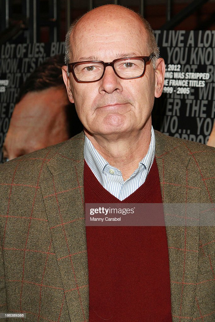 <a gi-track='captionPersonalityLinkClicked' href=/galleries/search?phrase=Harry+Smith+-+Journalist&family=editorial&specificpeople=214180 ng-click='$event.stopPropagation()'>Harry Smith</a> attends 'The Armstrong Lie' premiere at the Tribeca Grand Hotel on October 30, 2013 in New York City.