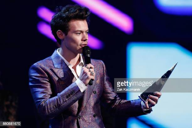 Harry Styles accepts the ARIA for Best International Act during the 31st Annual ARIA Awards 2017 at The Star on November 28 2017 in Sydney Australia