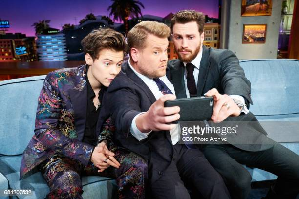 Harry Styles and Aaron TaylorJohnson chat with James Corden during 'The Late Late Show with James Corden' Monday May 15 2017 On The CBS Television...