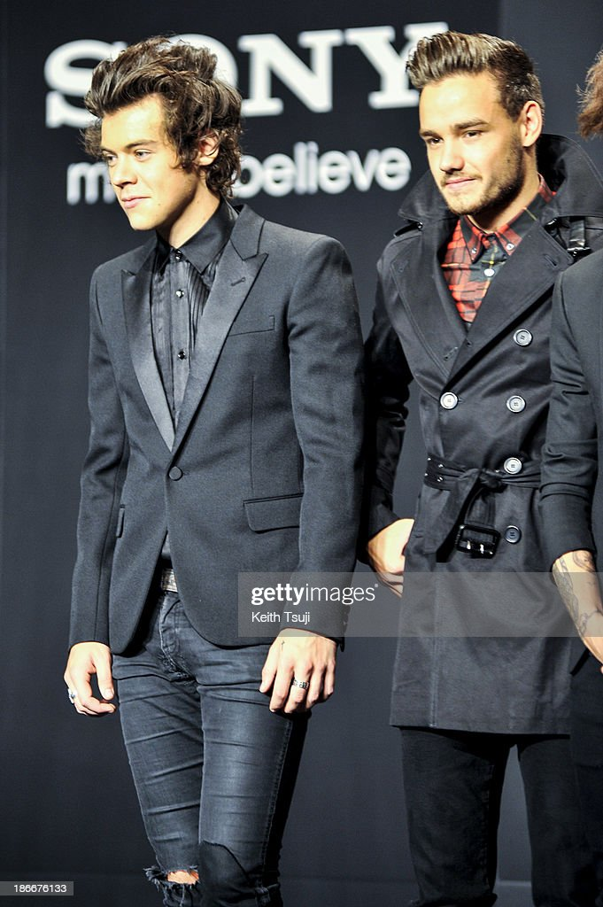 Harry Styles and Liam Payne of One Direction meet Japanese fans to promote 'The 1Derland: THIS IS US' on November 3, 2013 in Chiba, Japan.