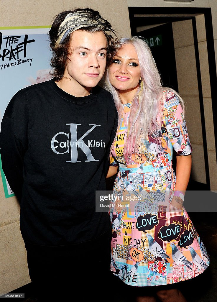 Harry Styles and Lou Teasdale attend the Fudge Urban Lou Teasdale Book Launch party on March 25, 2014 in London, United Kingdom.