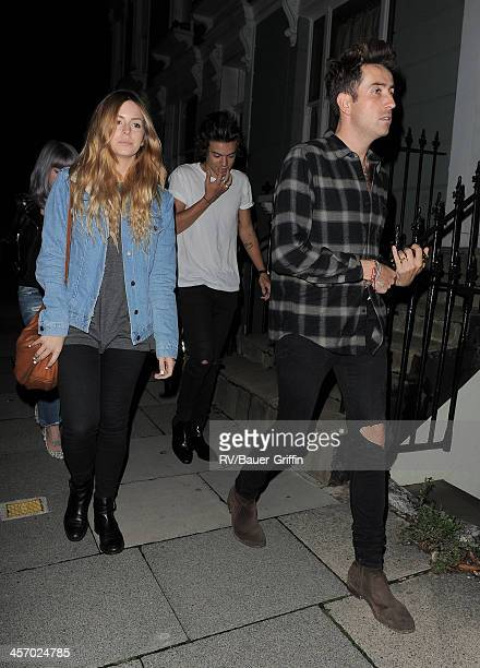 Harry Styles and Nick Grimshaw in Primrose Hill on September 15 2013 in London United Kingdom