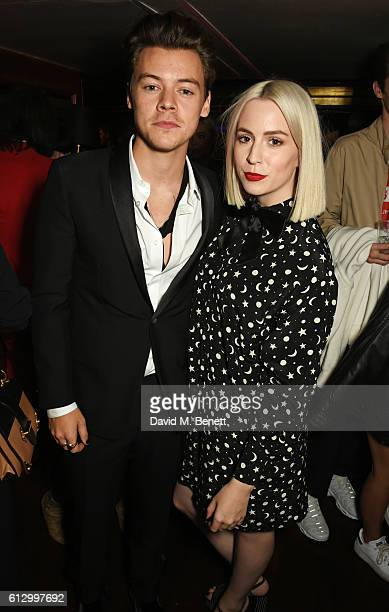 Harry Styles and sister Gemma Styles attend the Another Man A/W launch event hosted by Harry Styles Alister Mackie and Kris Van Assche at Albert's...