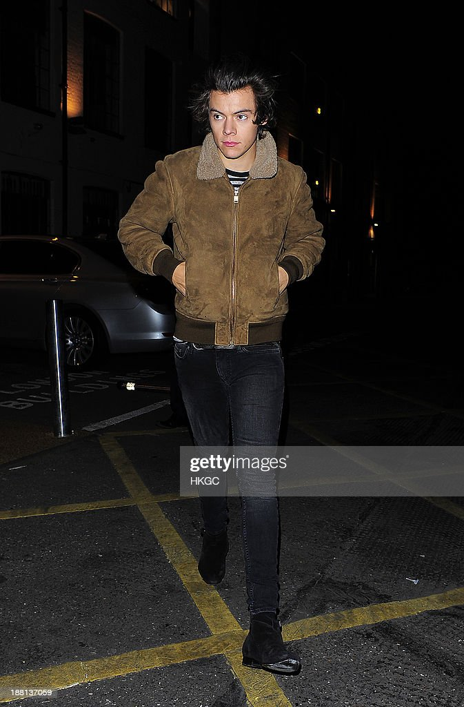 Harry Styles arrives at Highgate Studios on November 15, 2013 in London, England.