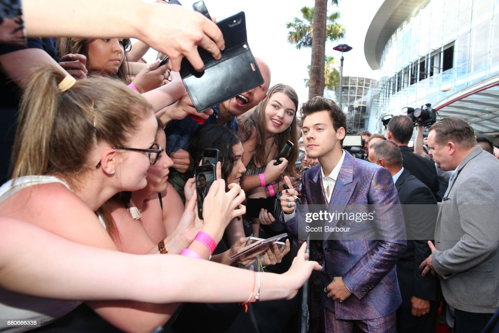 Harry Styles arrives for the 31st Annual ARIA Awards 2017 at The Star on November 28, 2017 in Sydney, Australia.