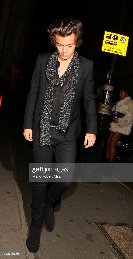 Harry Styles at the Playboy club on December 2, 2013 in London, England.