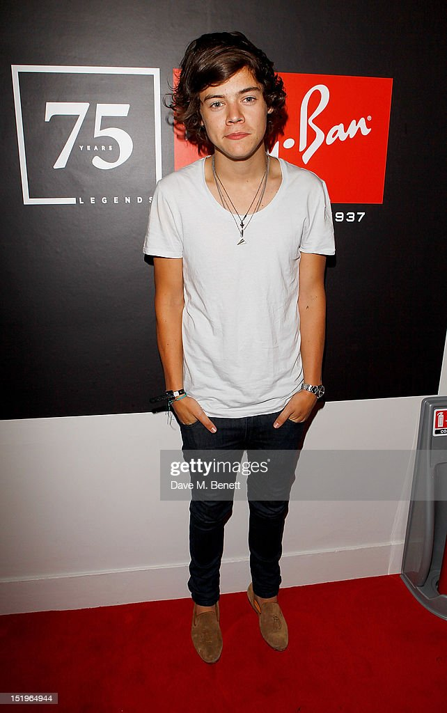 <a gi-track='captionPersonalityLinkClicked' href=/galleries/search?phrase=Harry+Styles&family=editorial&specificpeople=7229830 ng-click='$event.stopPropagation()'>Harry Styles</a> attends as Dazed & Confused presents Ray-Ban's 75th Anniversary celebration with Primal Scream and Kim Gordon of Sonic Youth at the Islington Assembly Hall on September 13, 2012 in London, England.