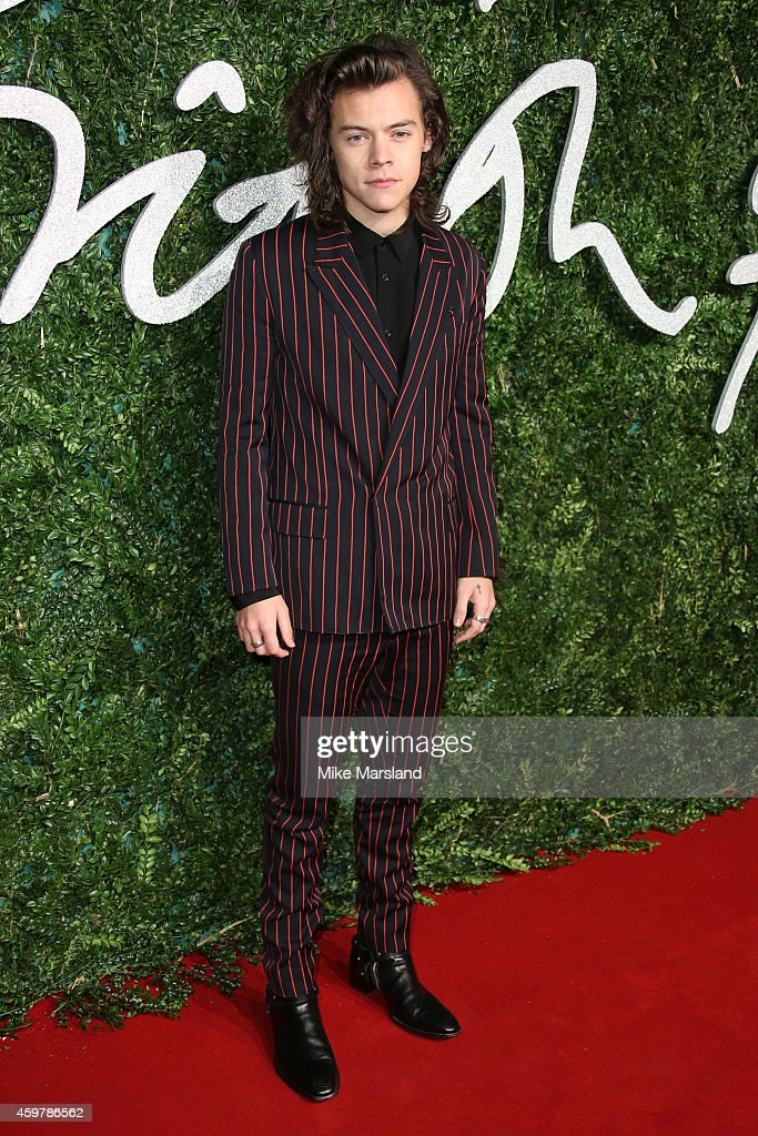 Harry Styles attends the British Fashion Awards at London Coliseum on December 1, 2014 in London, England.