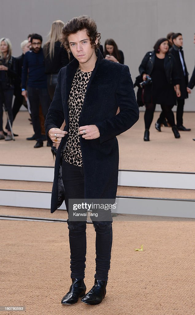<a gi-track='captionPersonalityLinkClicked' href=/galleries/search?phrase=Harry+Styles&family=editorial&specificpeople=7229830 ng-click='$event.stopPropagation()'>Harry Styles</a> attends the Burberry Prorsum show during London Fashion Week SS14 at Kensington Gardens on September 16, 2013 in London, England.