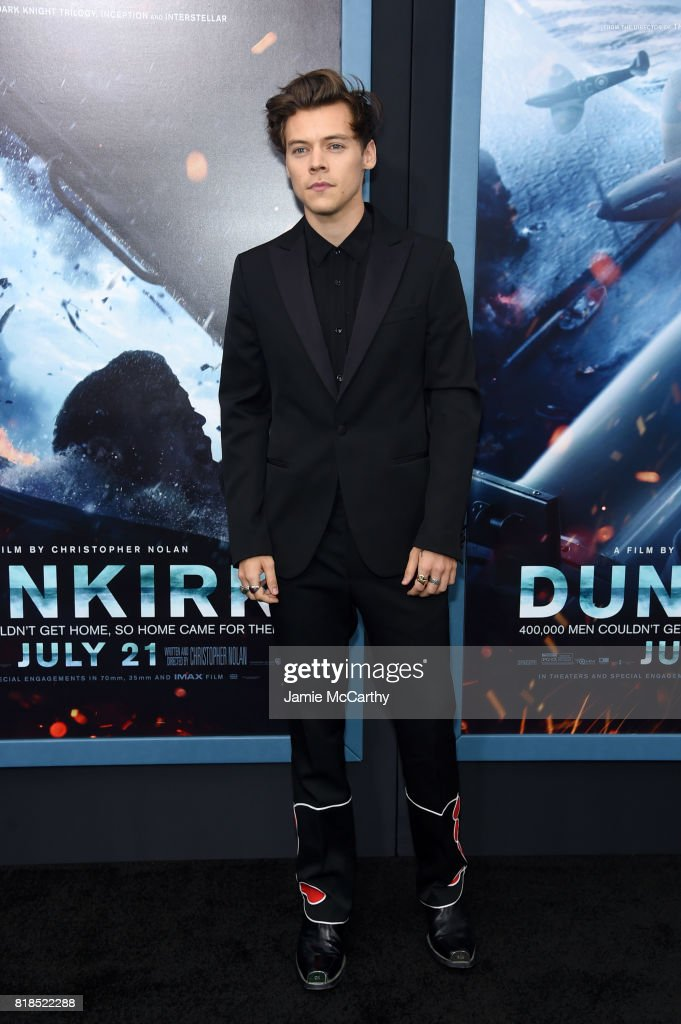 Harry Styles attends the 'DUNKIRK' New York Premiere on July 18, 2017 in New York City.